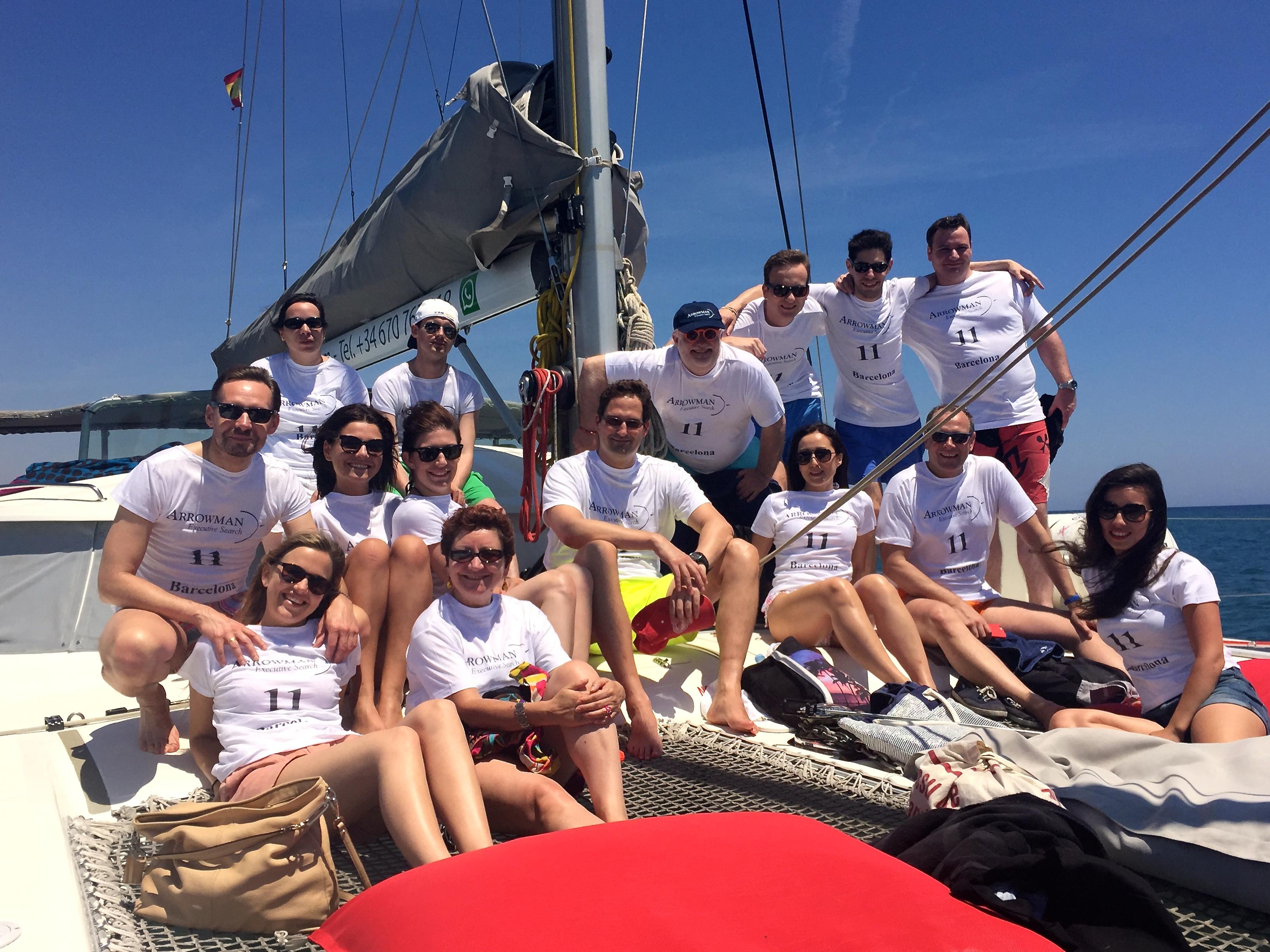 ARROWMAN Executive Search on a catamaran