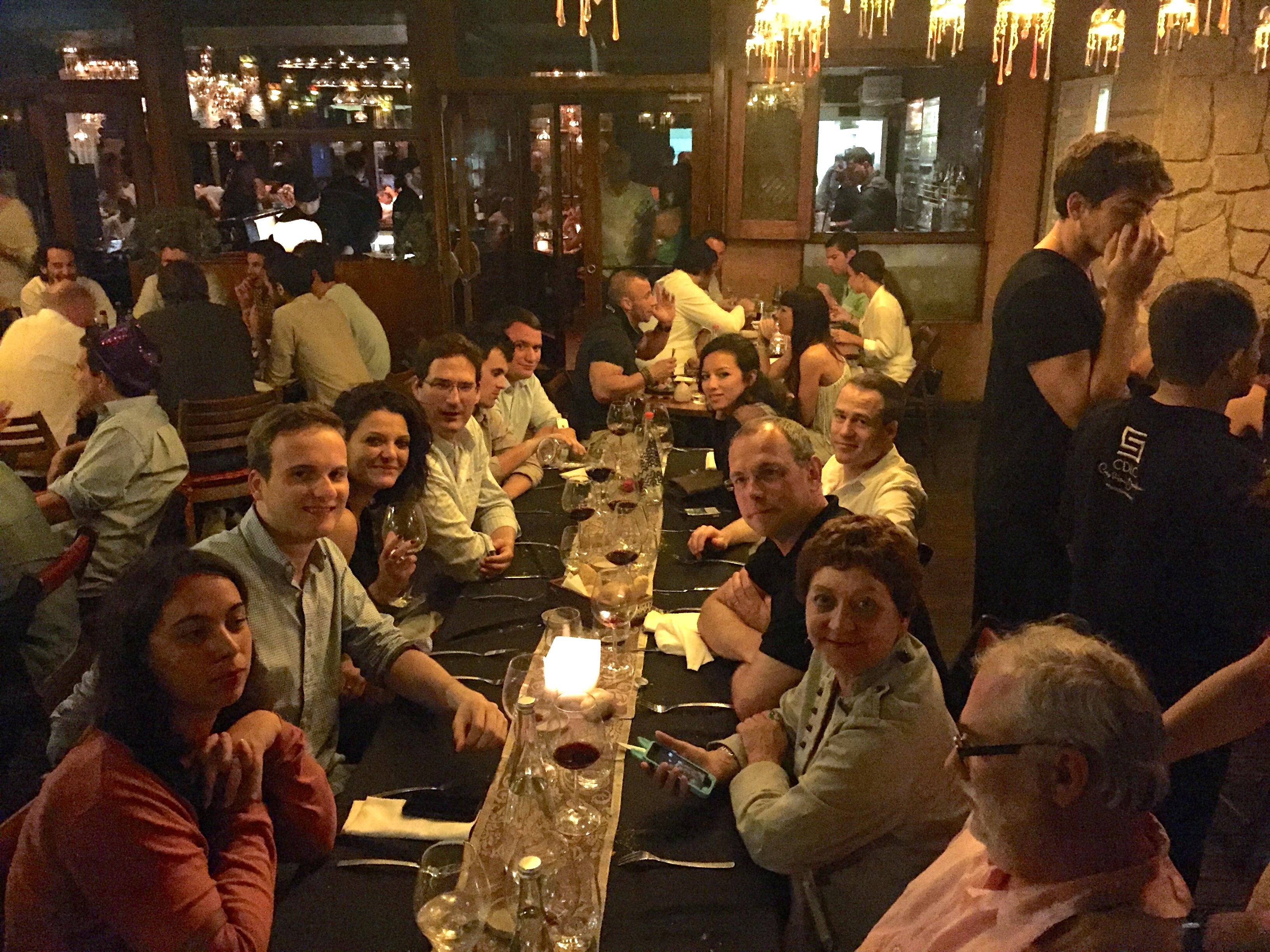 L'équipe au restaurant CDLC à Barcelone