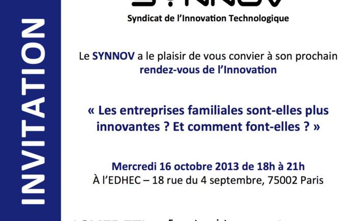 - ARROWMAN vous invite à la prochaine conférence du SYNNOV