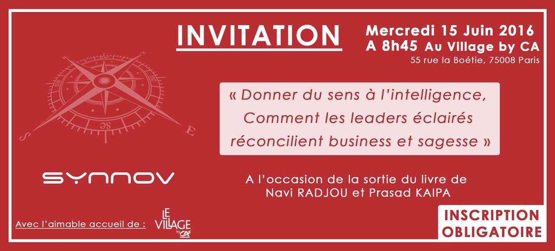 """Invitation : Conférence petit-déjeuner """"Donner du sens à l'intelligence"""""""