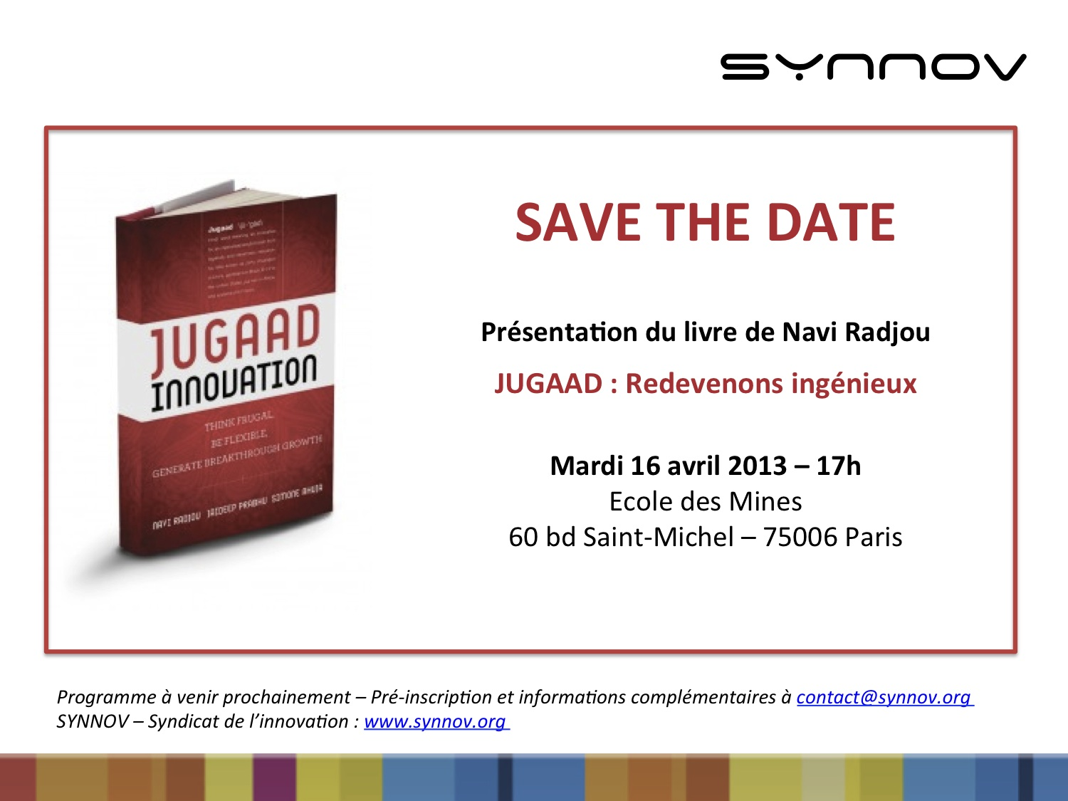 Save the date - Jugaad-1