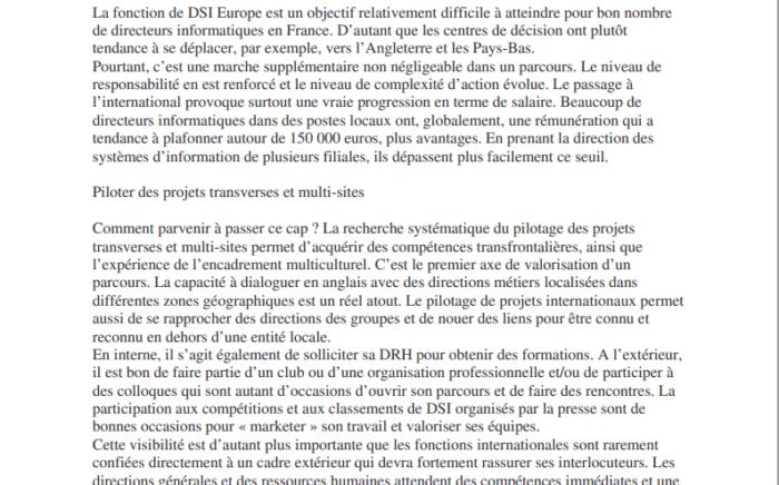 - DSI Europe mode d'emploi : Le Monde Informatique
