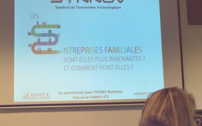 - Conférence du Synnov sur l'innovation et les entreprises familiales