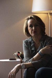 Portrait Marie Hélène Fagard lors de sa présentation dans les locaux d'Arrowman Executive Search